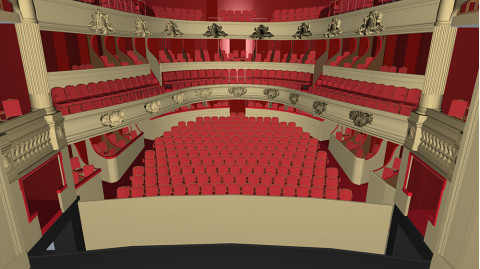 The Opéra de Rennes as an immersive 3D environment using ESI IC.IDO